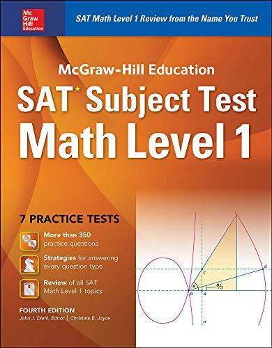 9781259583698: McGraw-Hill Education SAT Subject Test Math Level 1 4th Ed.