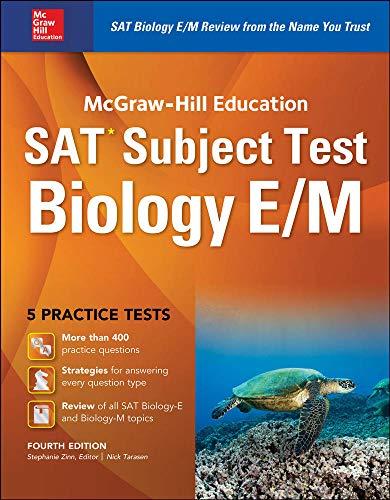 9781259584077: McGraw-Hill Education SAT Subject Test Biology E/M 4th Ed.