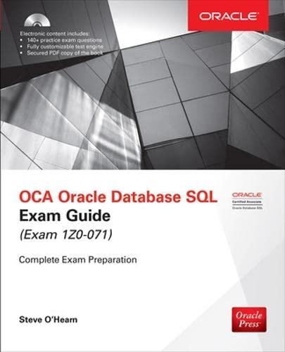 9781259585494: OCA Oracle Database SQL Exam Guide (Exam 1Z0-071) (Oracle Press)