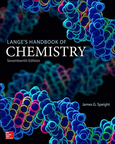 9781259586095: Lange's Handbook of Chemistry, Seventeenth Edition