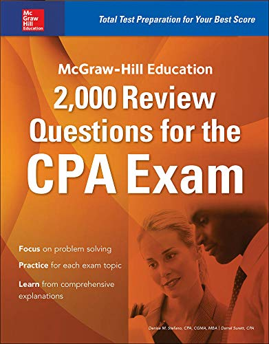 9781259586293: McGraw-Hill Education 2,000 Review Questions for the CPA Exam
