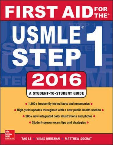 9781259587375: First Aid for the Usmle Step 1, 2016