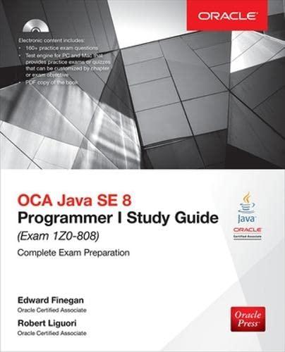 9781259587511: OCA Java SE 8 programmer study guide (Exam 1Z0-808). Con CD-ROM (Ingegneria)