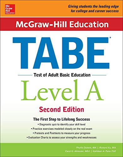 9781259587795: McGraw-Hill Education TABE Level A, Second Edition