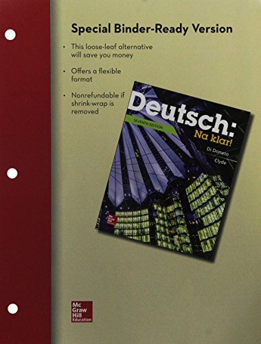 9781259591099: Loose Leaf Deutsch: Na Klar! An Introductory German Course, Student Edition with Connect Access Card