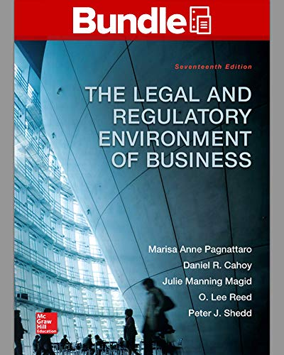 9781259591556: Loose-Leaf for The Legal and Regulatory Environment of Business with Connect