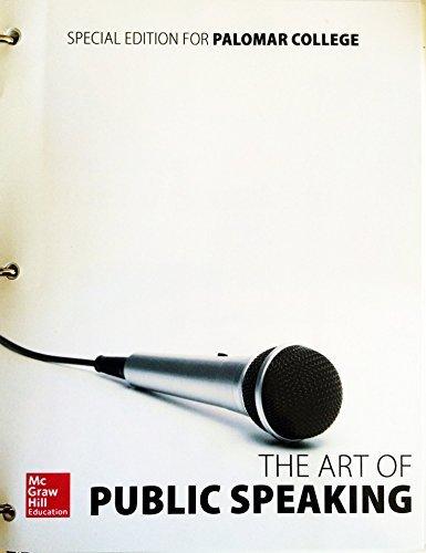 9781259601781: The Art of Public Speaking 12th Ed. (Palomar Edition)