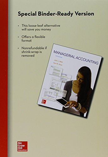 9781259605161: Loose-Leaf for Managerial Accounting with Connect