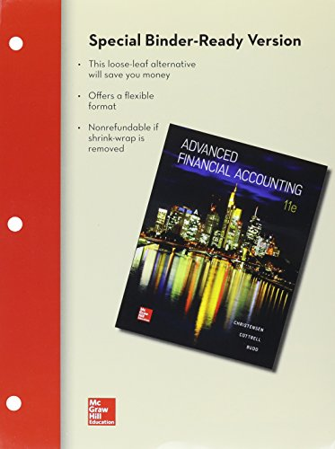 9781259605192: LOOSE-LEAF Advanced Financial Accounting with Connect