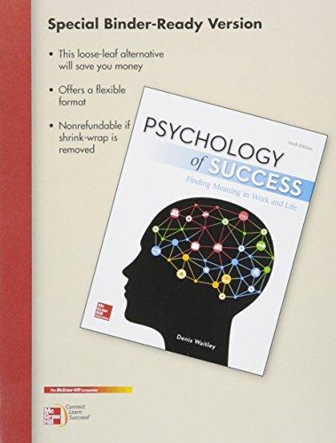 9781259605895: Loose Leaf for Psychology of Success
