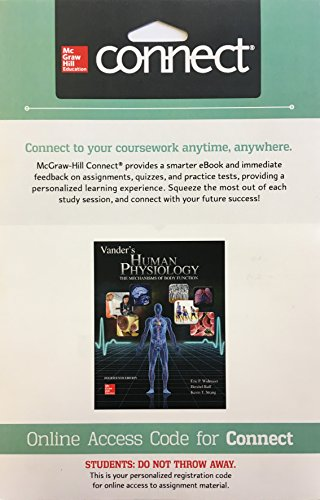 9781259607790: Connect Access Card for Vander's Human Physiology