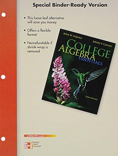 9781259615160: Loose Leaf Coburn College Algebra Essentials with ALEKS 360 18 Weeks Access Card