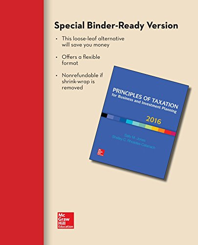 9781259618543: Loose Leaf for Principles of Taxation for Business and Investment Planning 2016 Edition