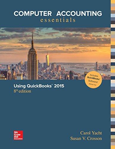 9781259620737: Computer Accounting Essentials Using QuickBooks 2015 QuickBooks Software