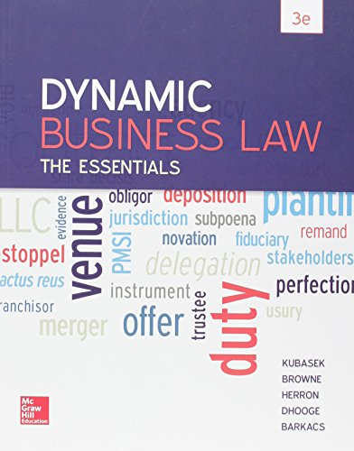 9781259621727: Dynamic Business Law: The Essentials with Connect