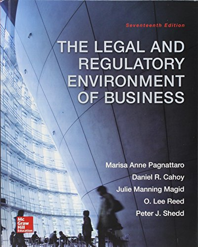 9781259621741: The Legal and Regulatory Environment of Business with Connect