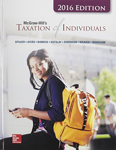 9781259624858: McGraw-Hill's Taxation of Individuals, 2016 Edition with Connect and TaxACT