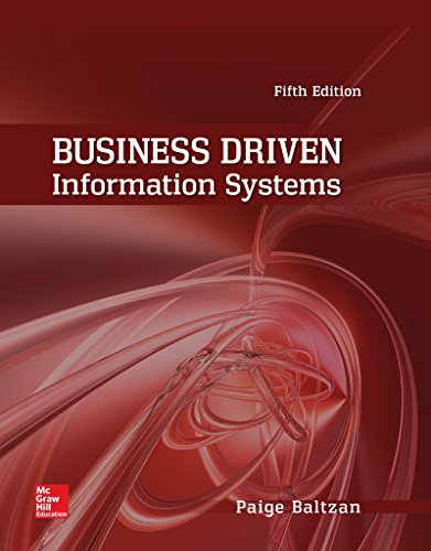 9781259630101: Business Driven Information Systems