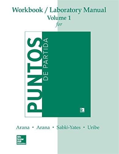 Download WORKBOOK /LAB MANUAL VI FOR PUNTOS DE PARTIDA: AN INVITATION TO SPANISH