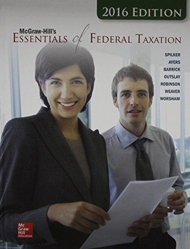 9781259635137: McGraw-Hill's Essentials of Federal Taxation, 2016 Edition with Connect