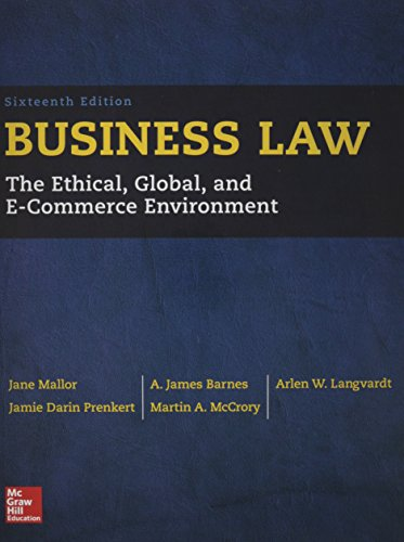 9781259638855: Business Law with Connect