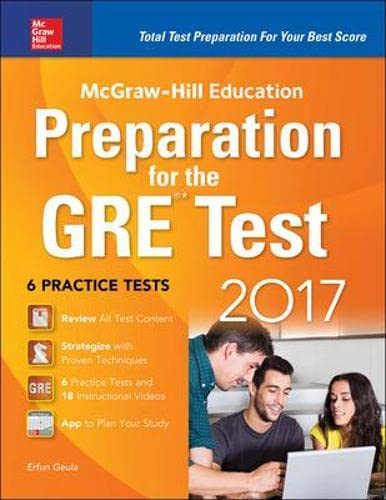 9781259642982: McGraw-Hill Education Preparation for the GRE Test 2017 3rd Edition