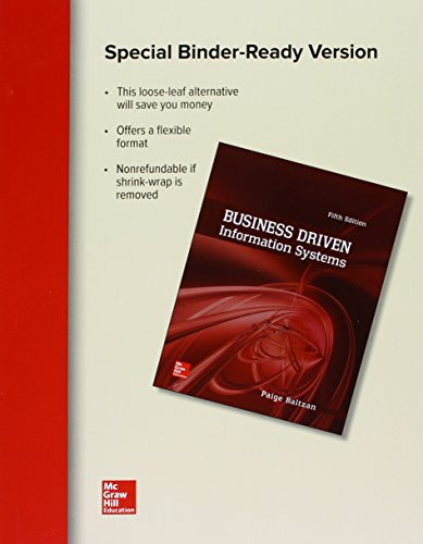 9781259655258: Loose Leaf for Business Driven Information Systems with Connect Access Card