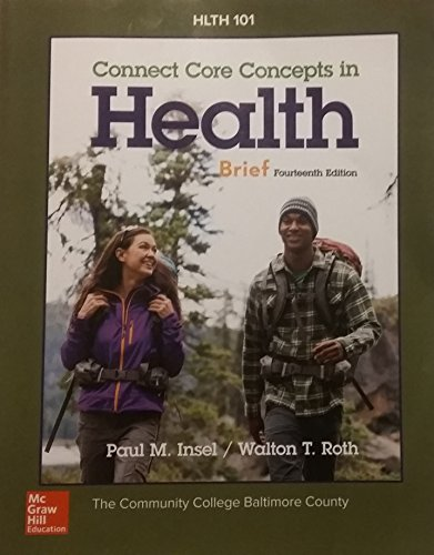 9781259655661: Connect Core Concepts in Health, 14th Edition, Brief (Community College of Baltimore County) Paperback - 2016
