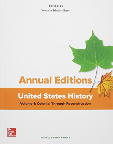 9781259657245: Annual Editions: United States History, Volume 1: Colonial through Reconstruction (Annual Editons. United States History)