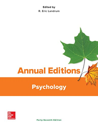 9781259657696: Annual Editions: Psychology, 47/e