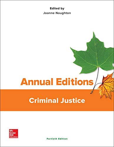 9781259658846: Annual Editions: Criminal Justice, 40/e