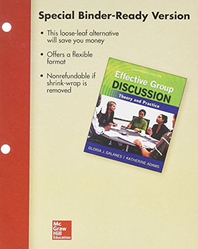 9781259658983: Loose Leaf for Effective Group Discussion: Theory and Practice with Connect Access Card