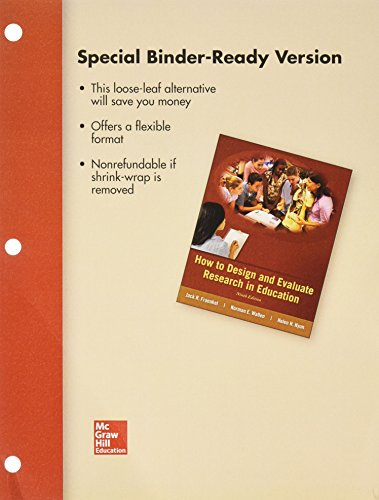 9781259659645: Loose Leaf for How to Design and Evaluate Research in Education with Connect Access Card