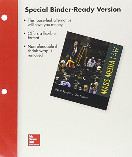9781259660375: Loose Leaf of Mass Media Law and Connect Access Card