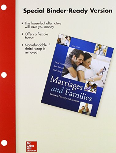 Loose Leaf for Marriages and Families with Connect Access Card: David Olson