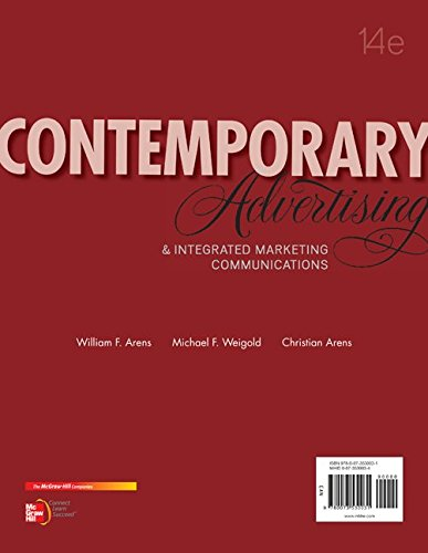 9781259676123: Loose Leaf Contemporary Advertising with Connect