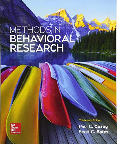 9781259676987: Methods in Behavioral Research