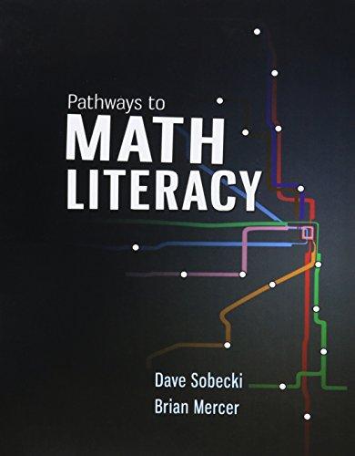 Pathways to Math Literacy (Loose Leaf) with: David Sobecki