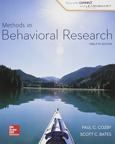 9781259682551: Methods in Behavioral Research with Connect Access Card