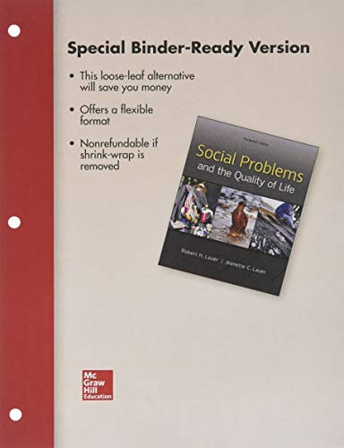 9781259684180: Looseleaf for Social Problems and the Quality of Life