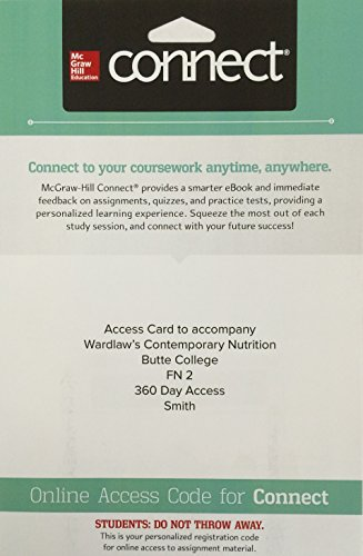 9781259685392: Access Card to Accompany Wardlaw's Contemporary Nutrition Butte College FN 2 360 Day Access