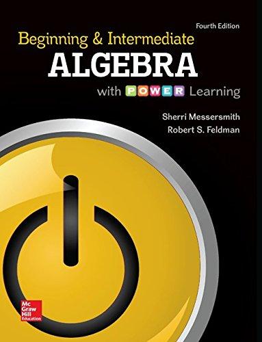 9781259686405: Loose Leaf Beginning & Intermediate Algebra with P.O.W.E.R. Learning and ALEKS 360 52 Week Access Card