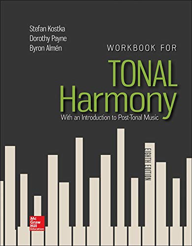 9781259686764: Workbook for Tonal Harmony