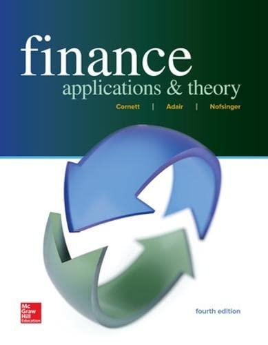 Finance: Applications and Theory (Hardback): Marcia Millon Cornett,