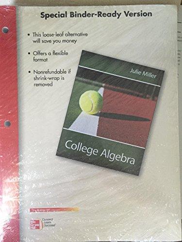 9781259696305: College Algebra Binder-Ready Version