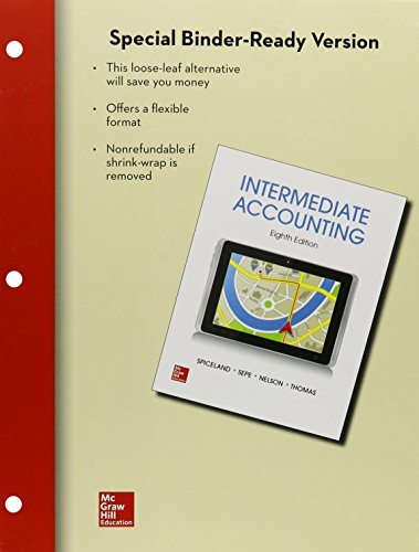 9781259697128: ND COMBO (UNIV OF MASS AMHERST) ACCOUNTG 321/322: Loose-leaf Intermediate Accounting