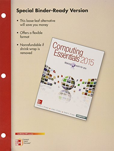 9781259699665: Loose Leaf for Computing Essentials 2015 Complete with Connect Access Card