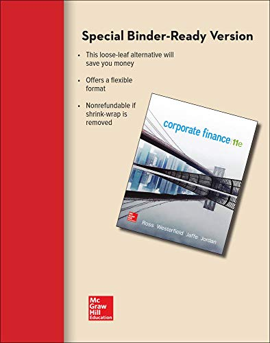 9781259709685: Loose Leaf for Corporate Finance (Mcgraw-hill/Irwin Series in Finance, Insurance, and Real Estate)