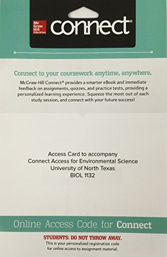 9781259713446: Access Card to Accompany Connect Access for Environmental Science University of North Texas BIOL 1132