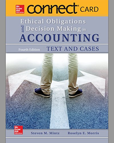 9781259730139: Connect Access Card for Ethical Obligations and Decision Making in Accounting: Text and Cases